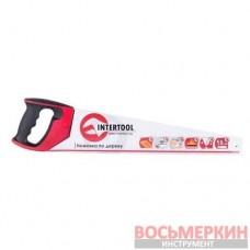 Ножовка по дереву 500 мм с каленым зубом тройная заточка 7 зуб х 1 HT-3106 Intertool