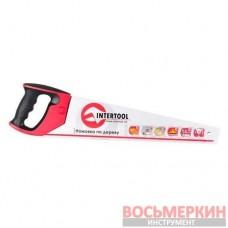 Ножовка по дереву 450 мм с каленым зубом тройная заточка 7 зуб х 1 HT-3105 Intertool
