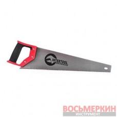 Ножовка по дереву с каленым зубом 450мм 55 HRC HT-3102 Intertool
