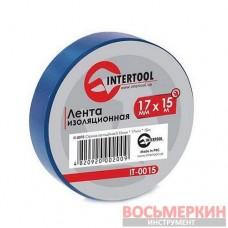 Лента изоляционная 0.15 mm х 17 mm х 15 m синяя IT-0015 Intertool