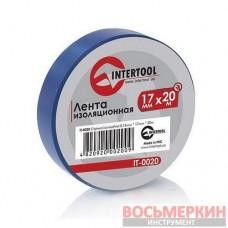 Лента изоляционная 0.15 мм х 17 мм х 20 м синяя IT-0020 Intertool