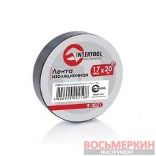 Лента изоляционная 0.15 мм х 17 мм х 20 м черная IT-0021 Intertool