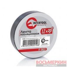 Лента изоляционная 0.15 мм х 17 мм х 25 м черная IT-0026 Intertool