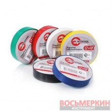 Лента изоляционная 0.15 мм х 17 мм х 25 м цветная упаковка 10 штук IT-0029 Intertool
