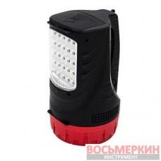 Фонарь аккумуляторный 1LED 5W и 25 LED LB-0102 Intertool