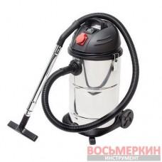 Пылесос промышленный 30 л., корпус из нерж. стали, 1400 Вт. DT-1030 Intertool