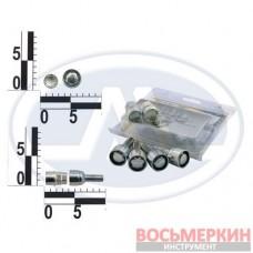 Болт М12х30 (ш. 1,25) колеса хром. сфера секретки Walline 52008