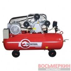 Компрессор 100л 8атм 600л/мин 380В PT-0036 Intertool 4кВт 5HP 3 цилиндра