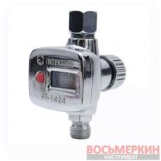 Редуктор, регуляторы давления с цифрововым манометром для пистолетов покрасочных 1/4 PT-1424 Intertool