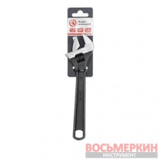Ключ разводной 200 мм Cr-V черный фосфатированный XT-0058 Intertool