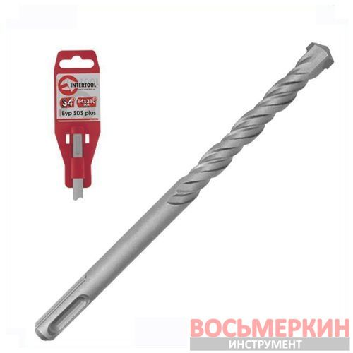 АКЦИЯ Бур SDS PLUS S4 18*400мм SD-1840 Intertool