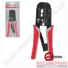 Клещи для прессовки штекеров (RJ11/RJ12/RJ14). HT-7052 Intertool