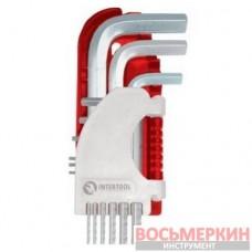 Набор Г-образных шестигранных ключей 9шт., 1.5-10мм Small HT-1801 Intertool