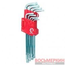 Набор Г-образных ключей TORX 9шт Т10-Т50 Cr-V Big HT-0608 Intertool