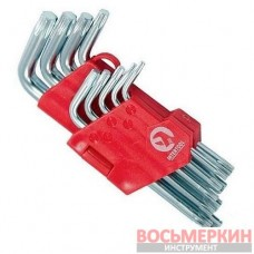 Набор Г-образных ключей TORX 9шт Т10-Т50 Cr-V Small HT-0607 Intertool