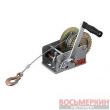 Лебедка рычажная барабанная стальной трос 1000 кг GT1455 Intertool