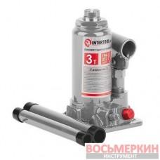 Домкрат бутылочный 3т GT0052 Intertool одноштоковый в чемодане