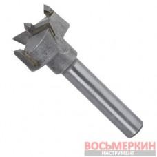 Фреза Форстнера 25 мм хвостовик 8 мм для дверных петель SD-0492 Intertool