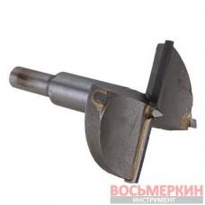 Фреза Форстнера 35 мм хвостовик 8 мм для дверных петель с ограничителем SD-0495 Intertool