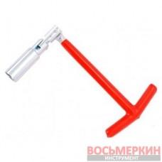 Свечной ключ Т-образный с шарниром 21х250 мм HT-1722 Intertool