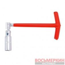 Свечной ключ Т-образный с шарниром 16х250 мм HT-1717 Intertool