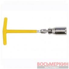 Свечной ключ Т-образный с шарниром 16мм HT-1716 Intertool