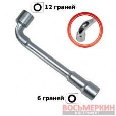 Ключ торцовый с отверстием L-образный 17мм HT-1617 Intertool