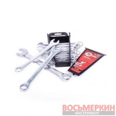 Набор ключей комбинированных 12 единиц от 6 мм до 22 мм CrV HT-1203 Intertool