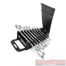 Набор ключей комбинированных 8 единиц от 8 мм до 19 мм CrV HT-1202 Intertool
