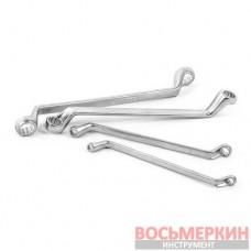 Набор накидных ключей 6 единиц от 6 мм до 17 мм CrV HT-1101 Intertool
