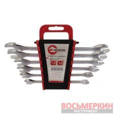 Набор рожковых ключей 6 единиц от 6 мм до 17 мм CrV HT-1001 Intertool