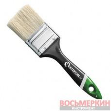 Кисть флейцевая 63 мм х 12 мм х 38 мм пластиковая ручка KT-1363 Intertool