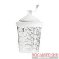 Смесительный пластиковый бачок для окрашивания, долива и хранения краски (внутренняя резьба) 600 мл RPC Italco