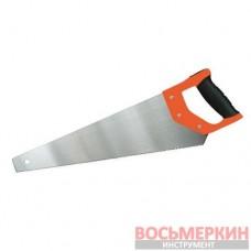 Ножовка по дереву с комбмнированной рукояткой и калеными зубьями 7TPI 450 мм 99-162 Miol