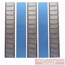 Груз самоклеящийся низкий 12 х 5 г свинец голубая лента Украина