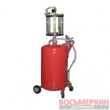 Установка для вакуумной откачки масла с мерной колбой 80л. B8010KV G.I. KRAFT