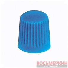 Колпачок пластиковый для вентилей синий