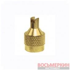 Колпачок металлический для вентилей желтый