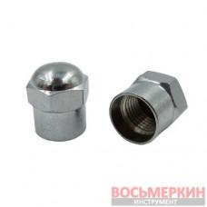 Колпачок для вентилей хромированный металлический TR-414