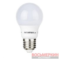 Светодиодная лампа LED A55, E27, 7Вт, 150-300В, 4000K, 30000ч, гарантия 3года. LL-0003 Intertool