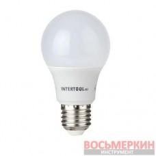 Светодиодная лампа LED A60, E27, 10Вт, 150-300В, 4000K, 30000ч, гарантия 3года. LL-0014 Intertool