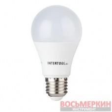Светодиодная лампа LED A60, E27, 12Вт, 150-300В, 4000K, 30000ч, гарантия 3года. LL-0015 Intertool