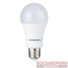Светодиодная лампа LED A60, E27, 15Вт, 150-300В, 4000K, 30000ч, гарантия 3года. LL-0017 Intertool