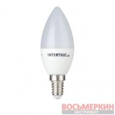 Светодиодная лампа LED C37, E14, 3Вт, 150-300В, 4000K, 30000ч, гарантия 3года. (Свеча) LL-0151 Intertool