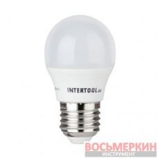 Светодиодная лампа LED G45, E27, 5Вт, 150-300В, 4000K, 30000ч, гарантия 3года. LL-0112 Intertool
