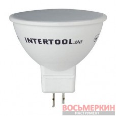 Светодиодная лампа LED MR16, GU5.3, 5Вт, 150-300В, 4000K, 30000ч, гарантия 3года LL-0202 Intertool
