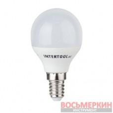 Светодиодная лампа LED P45, E14, 5Вт, 150-300В, 4000K, 30000ч, гарантия 3года. LL-0102 Intertool